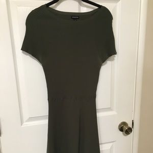 Hourglass olive green dress